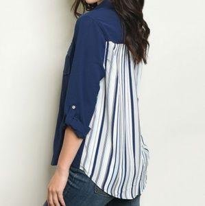 Tops - ARRIVED!  Gilli Contrast Navy blouse